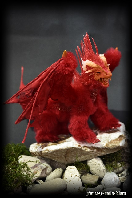 Red fire dragon by Fantasy-dolls-Zlata